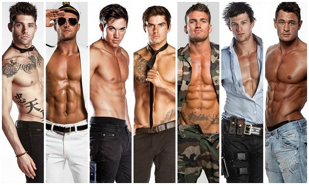 hunks of male revue show
