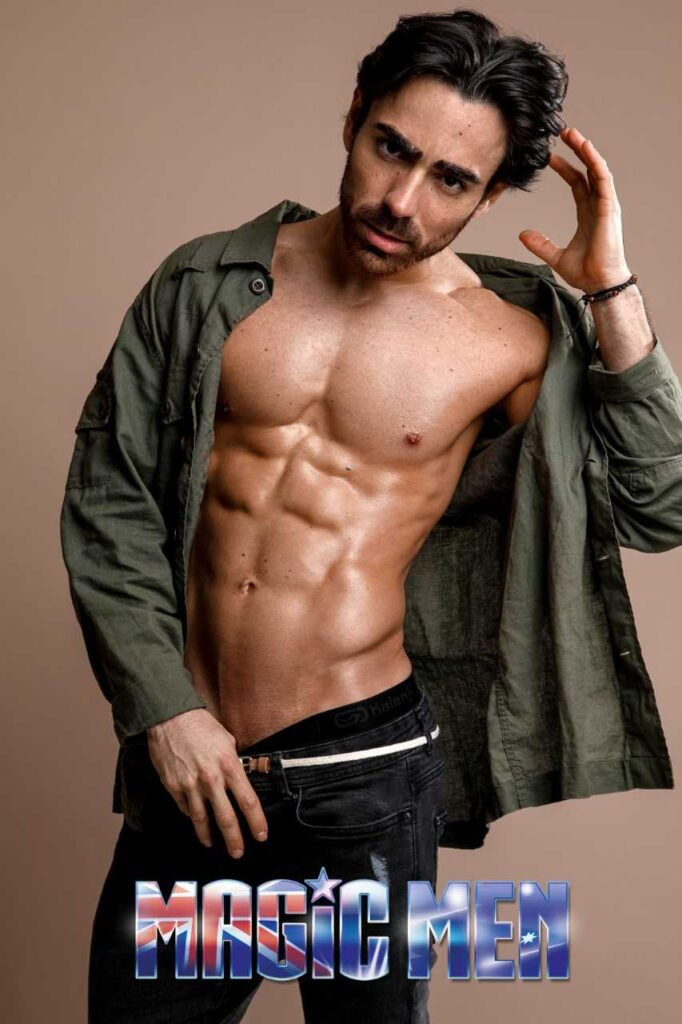 Joaquin attractive latino looking topless waiters in Brunswick