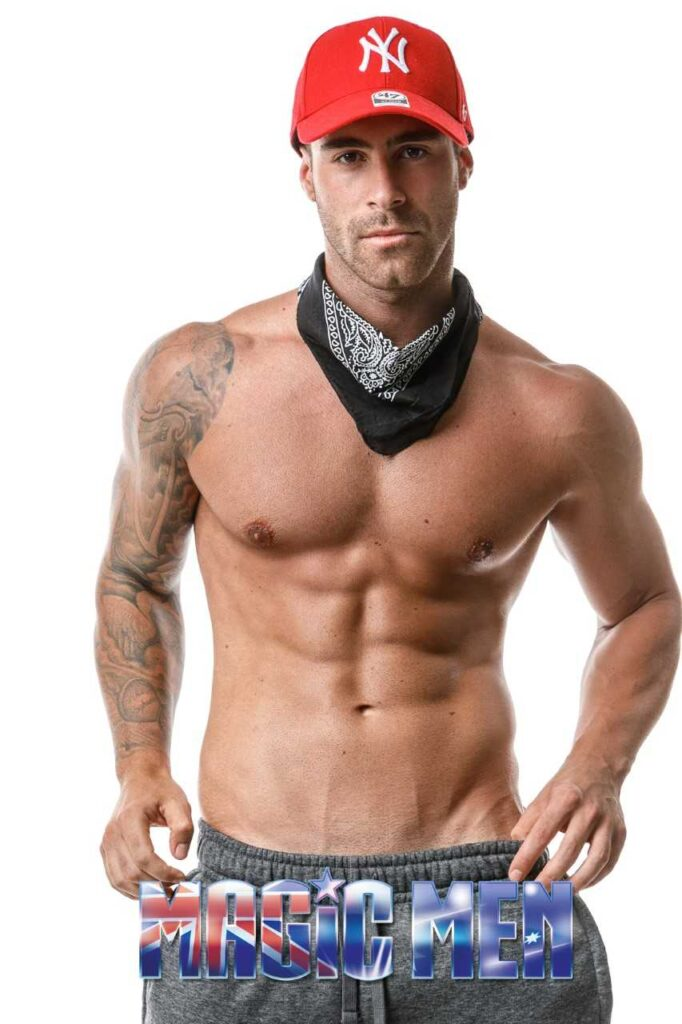 Marco hot cowboy male strippers in Brunswick wearing red cap