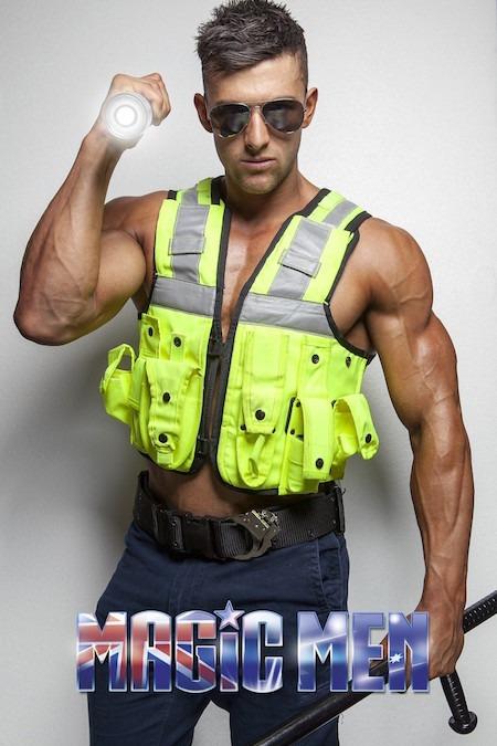 Nathan hunky policeman male stripper in Brunswick