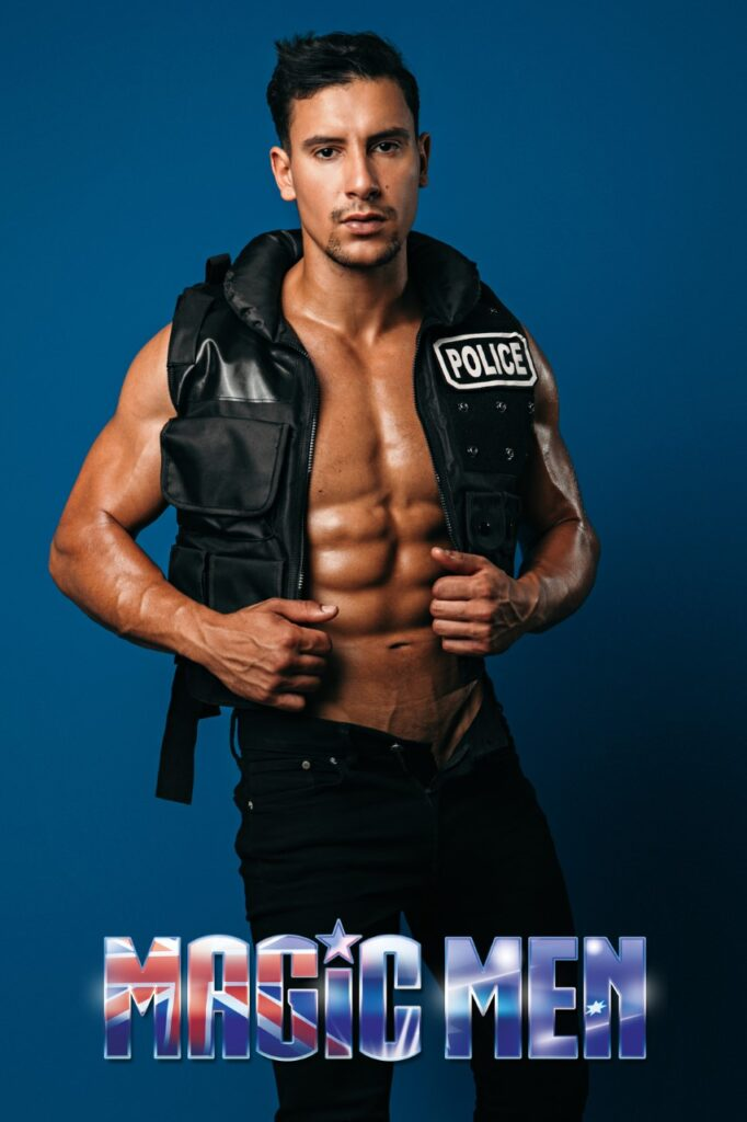 Anouar hunk cop male strippers in Brunswick